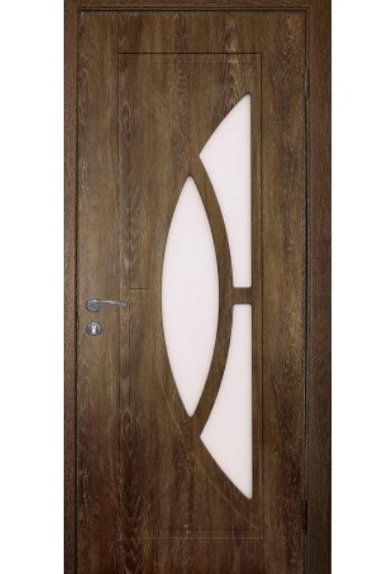 Міжкімнатні двері Неман зі склом ФАНТАЗІЯ  Н-23, дуб пасадена