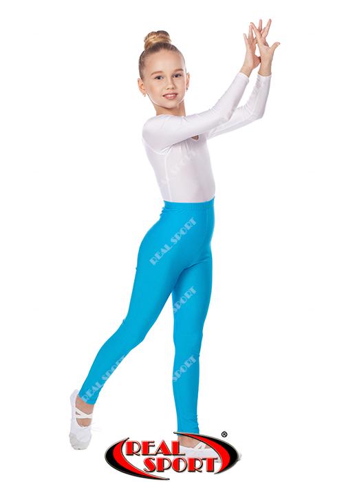 Лосины бифлекс детские бирюзовые GM040029 (эластан, р-р 1-4, рост 104-152 см)