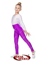 Лосины для художественной гимнастики и танцев, фиолетовые RS GM040031 (эластан, р-р 1-4, рост 104-152см)