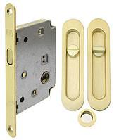 Комплект для раздвижных дверей RDA ручка + замок матовая латунь