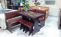 Кухонный уголок с простым столом Барон