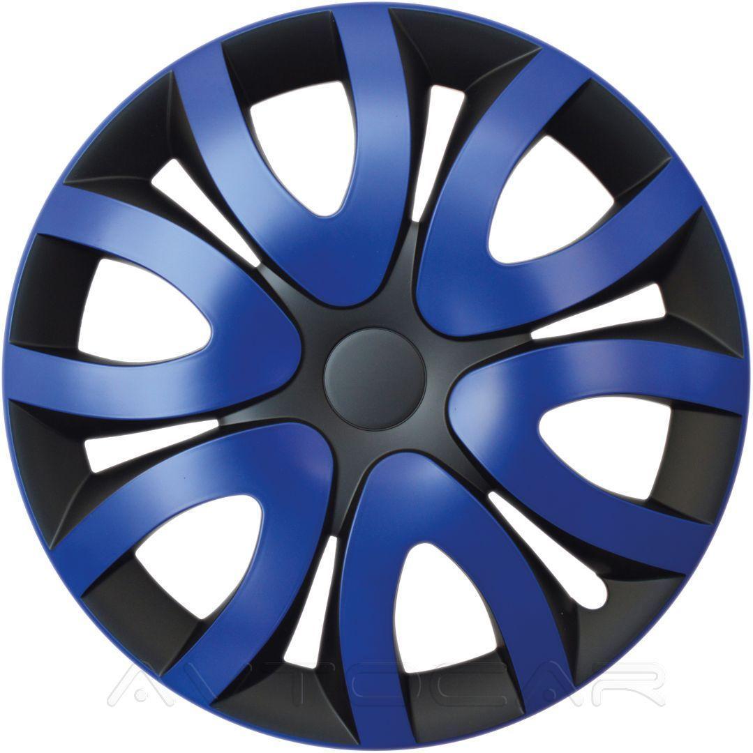 Колпаки колесные MIKA радиус R15 4шт Olszewski Синий ⟃ черный