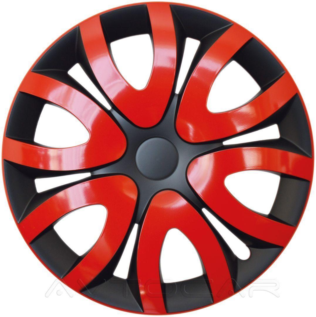Колпаки колесные MIKA радиус R15 4шт Olszewski Красный ⟃ чёрный