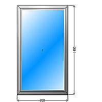 Окно 800 х 1400, глухое, с двухкамерным стеклопакетом