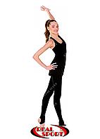Лосины со следом для танцев и хореографии, черные GM040036 (хлопок, р-р 1-M, рост 104-165 см)