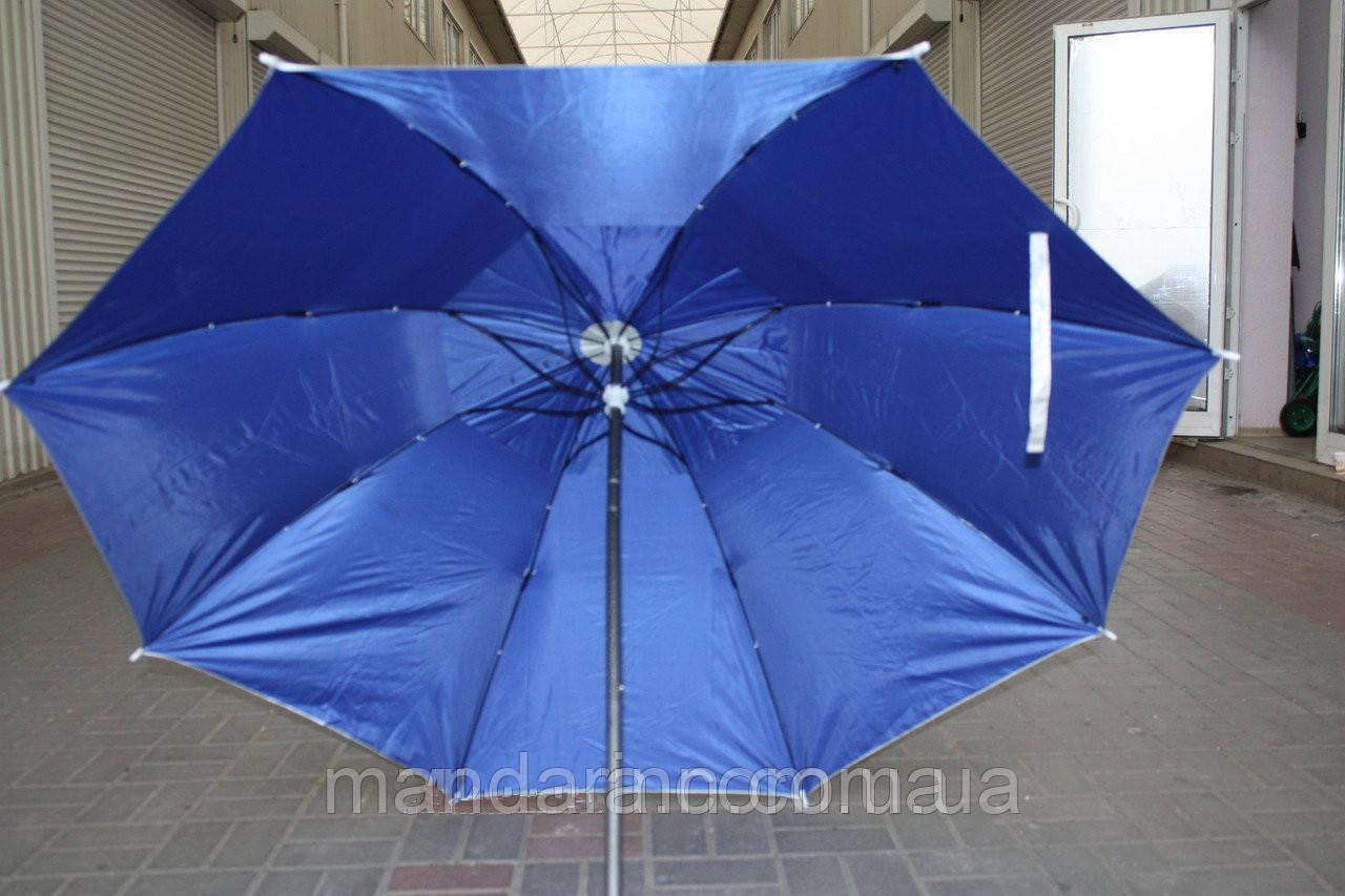 Пляжний зонт компактний, складаний, 160см, блакитний і зелений колір - фото 8