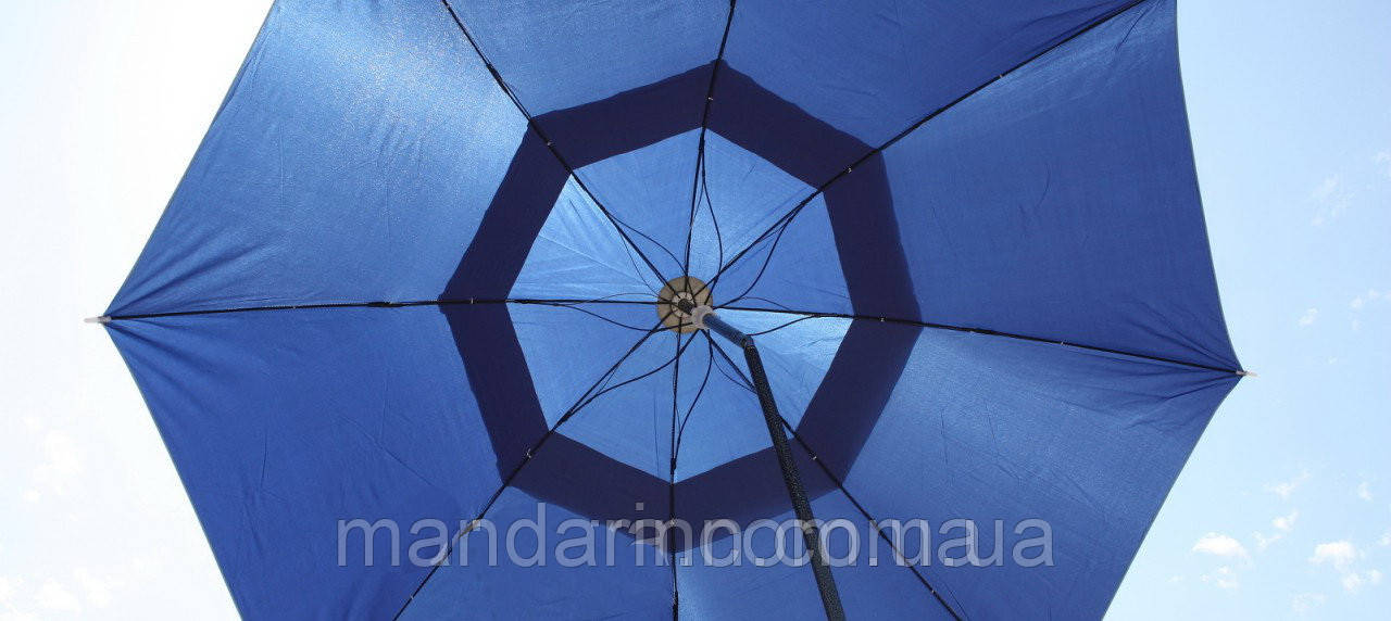 Пляжний зонт компактний, складаний, 160см, блакитний і зелений колір - фото 10