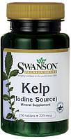 Источник йода для поддержки щитовидной железы - Бурая водоросль (Келп (Kelp)), 225 мкг 250 таблеток