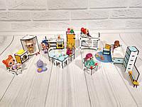 Комплект Игровой мебели для кукольного домика куколкам LOL 16 предметов