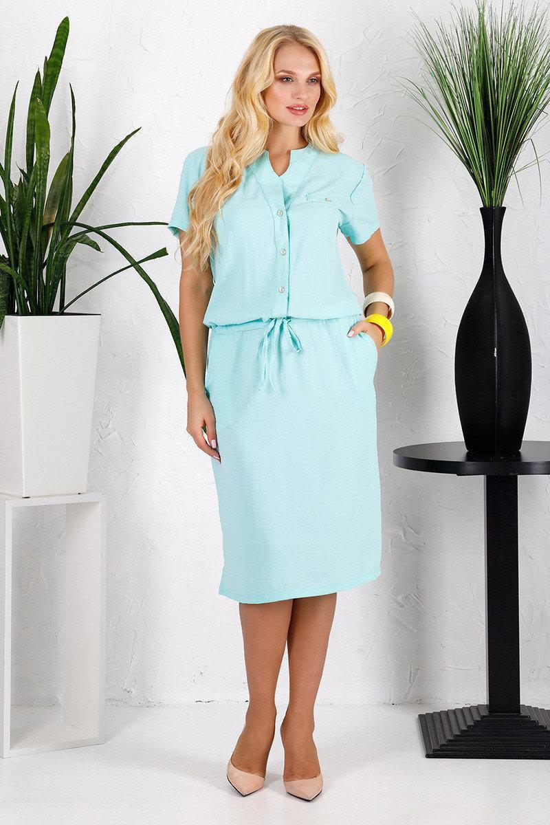 Лняное платье рубашка с 50 по 58 размер