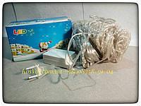 Новогодняя 180LED гирлянда - штора Электрическая гирлянда для праздника. Все цвета 2,3 метра.