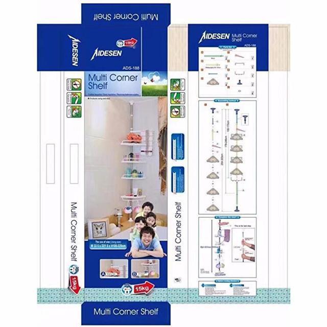 Полки для ванной Multi Corner Shelf ADS-188 металлическая (в ящике 10шт).