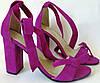 Ultra ленты бант! Летние женские босоножки из натуральной замши на каблуке с завязками
