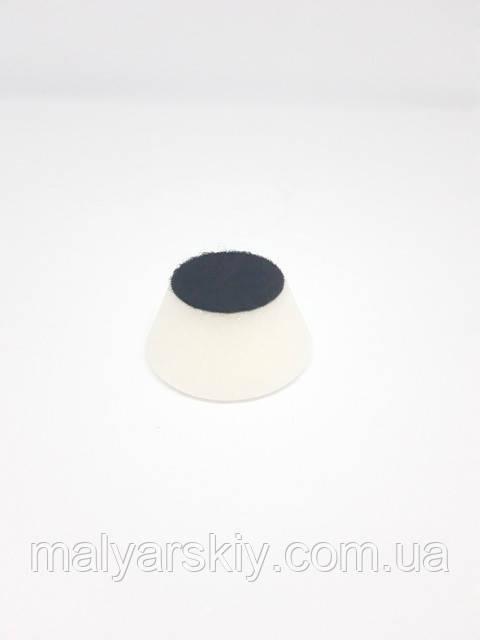 44511 Полірувальний круг конусний на липучці 50мм*25мм  БІЛИЙ  PYRAMID