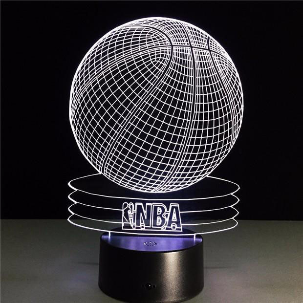 Сменная панель для 3D светильника 3D Lamp Баскетбольный мяч NBA (SP-3054)