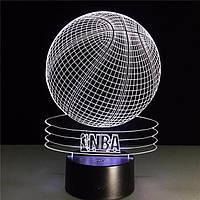Сменная панель для 3D светильника 3D Lamp Баскетбольный мяч NBA (SP-3054), фото 1