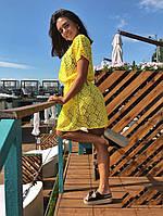 Туника женская короткая пляжная из кружева на подкладке (К28096), фото 1