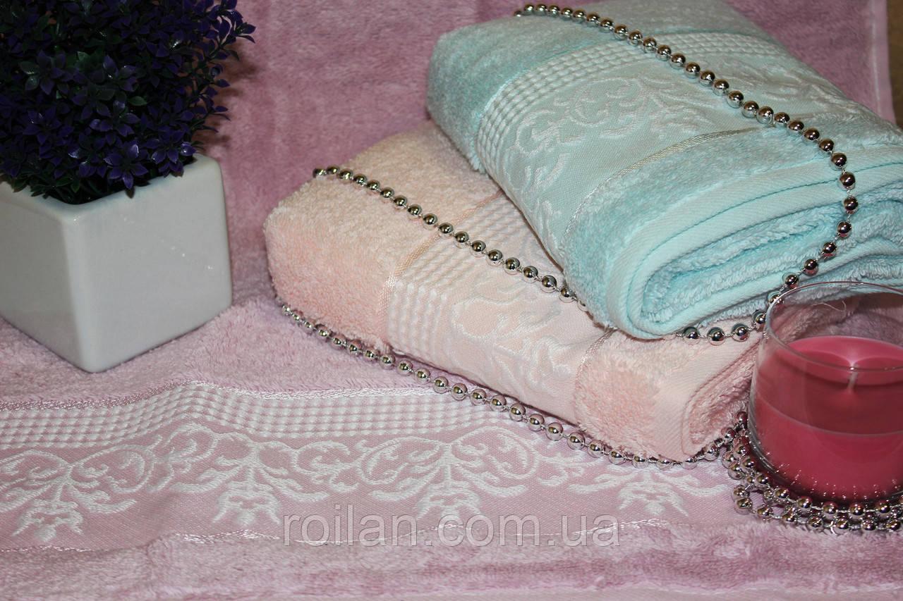 Метровые турецкие полотенца Белый ВензельMicro delux