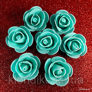 Розочки из фоамирана, 3 см, Цвет: Мятный (50 шт.)