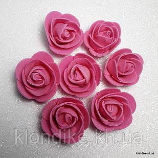 Розочки из фоамирана, 3 см, Цвет: Малиновый (50 шт.)