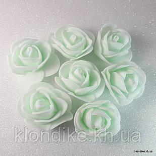 Розочки из фоамирана, 3 см, Цвет: Нежная мята (50 шт.)