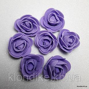 Розочки из фоамирана, 3 см, Цвет: Фиолетовый (50 шт.)