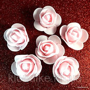 Розочки из фоамирана, 3 см, Цвет: Нежно-розовый (50 шт.)