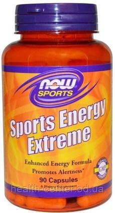 Sports Energy Extreme Натуральный энергетик 90 капс Now Foods USA