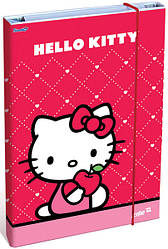 Папка для труда «Hello Kitty», картонная на резинке