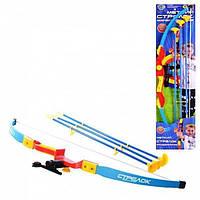 Детский классический лук для стрельбы M 0006 U/R с мишенью, стрелы присоски 3 шт