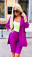 Костюм женский с облегающими шортами пиджак с рукавами в 3/4 (К28098), фото 1