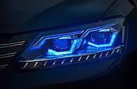 Передние тюнинг фары Volkswagen Passat B7 2010-2014 г.в. в стиле BMW, фото 1