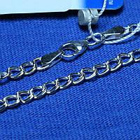 Плоский серебряный браслет Параллель 18 см 9020320504