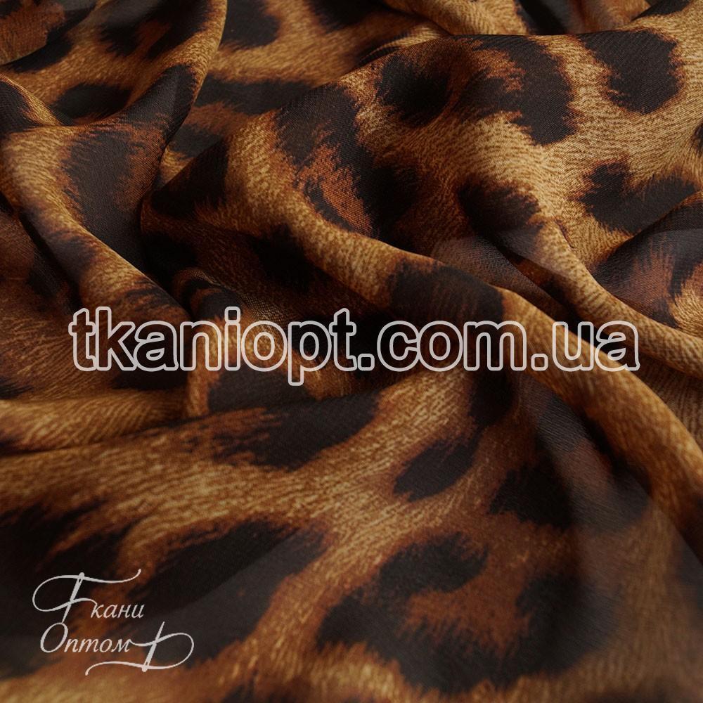 Ткань Шифон принт  (леопард)