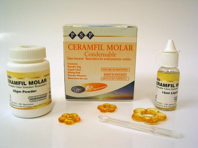 Керамфил Моляр (Ceramfil Molar) 25 г + 15 мл стеклоиномерный пломбировочный материал
