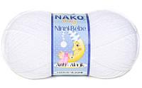 """Пряжа Nako Ninni Bebe """"208"""" Детская для Ручного Вязания"""