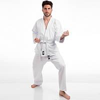 Кимоно для карате белое BADBOY (хлопок, р-р 000-6 (110-190см), плотность 240г на м2)
