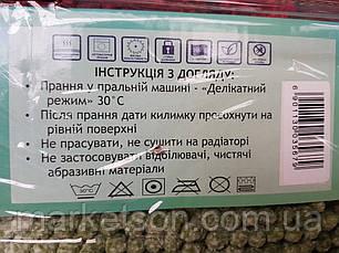 Коврик для ванной 60х90 см. Лапша Макароны Зеленый, фото 3