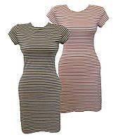 Молодежное женское платье в полоску, женская одежда от производителя, интернет магазин,  стрейч кулир