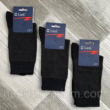 Носки мужские хлопок с сеткой Класик Черкассы, арт 7В-04, 25 размер, чёрные, 05544