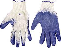 Перчатки рабочие х/б, резиновое покрытие, синие, размер 9 Top Tools 83S205.