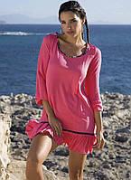 Рожева віскозна пляжна сукня Ysabel Mora 85544