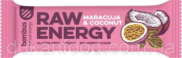 Батончик Bombus Raw Energy Маракуйя и Кокос