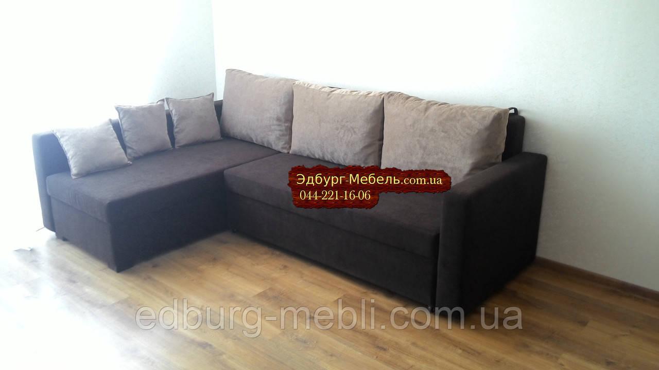 Угловой диван Миша велюр