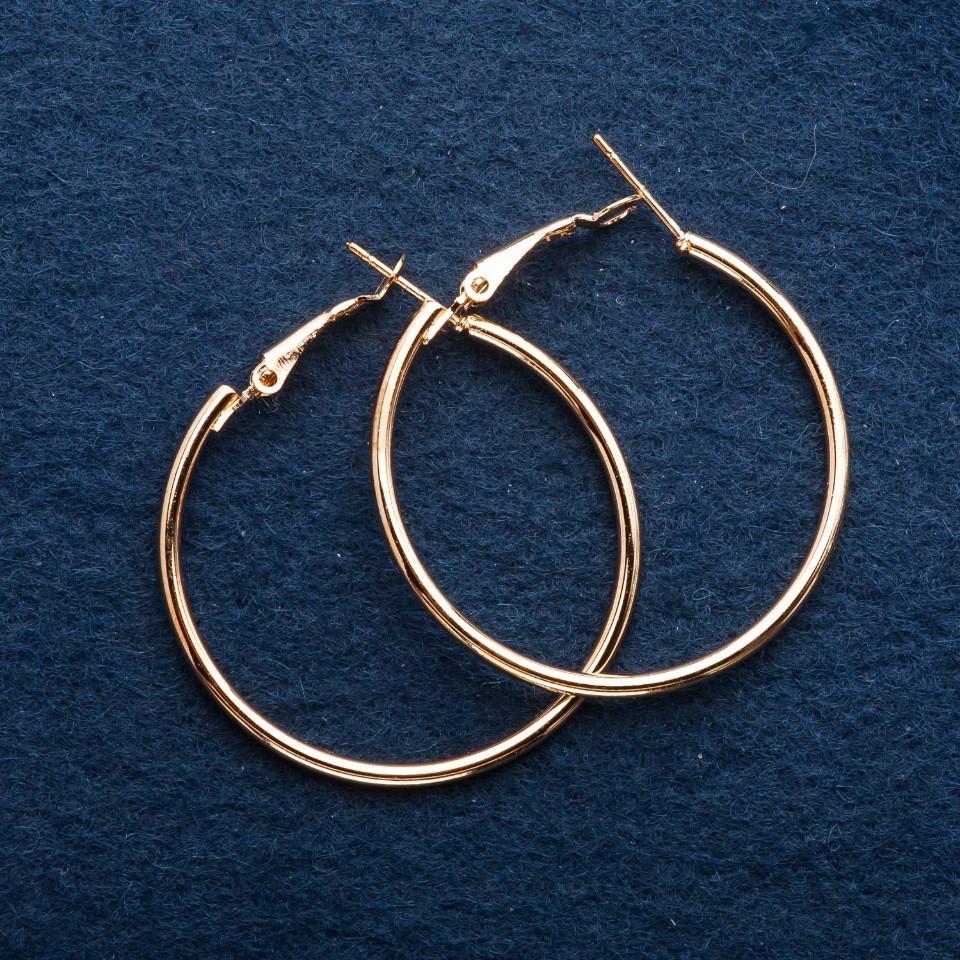 Серьги кольца d-6см золотистые