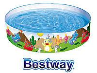 Bestway 55022, каркасный детский бассейн Динозавры 183х38 см, фото 1