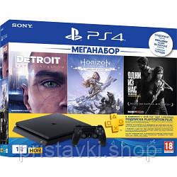 Playstation 4 Slim 1TB + 3 гри + Ps Plus 3 місяці