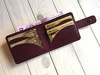 Жіночий гаманець ручної роботи з натуральної шкіри Goose™ G0030 марсала
