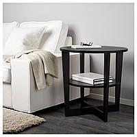 IKEA, VEJMON, Придиванный столик, черно-коричневый, 60 см (401.366.81)(40136681) ВЕЙМОН ИКЕА
