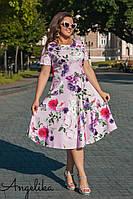 Женское летнее платье №485 (р.48-54) розовый, фото 1